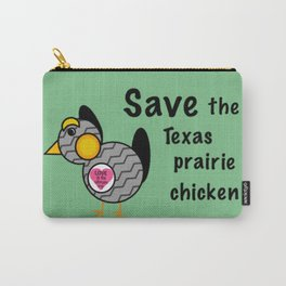 Save the Texas Prairie Chicken Carry-All Pouch