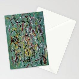Helter Skelter Inspired by Jackson Pollack Stationery Cards