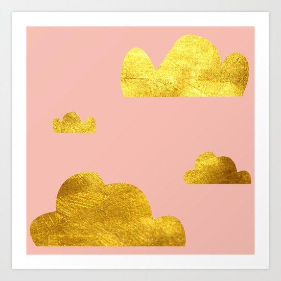 Gold Clouds Art Print