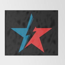 Bowie Star black Throw Blanket