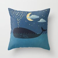 star Throw Pillows featuring Star-maker by Terry Fan