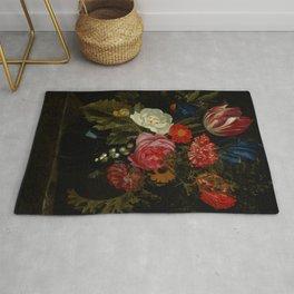 "Maria van Oosterwijck ""Flowers in a vase on a marble ledge"" Rug"