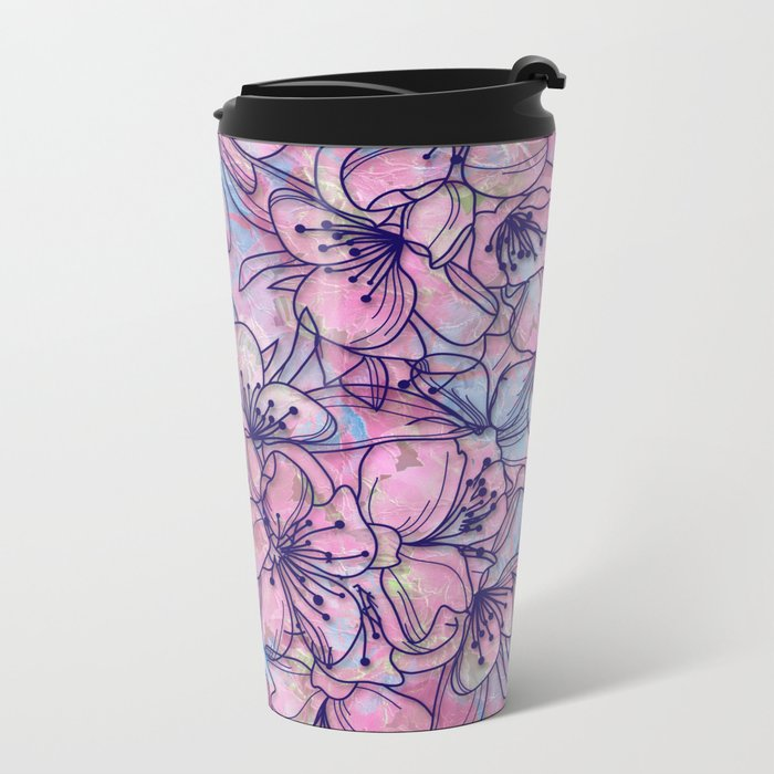 Over and Over Flowers 2 Travel Mug