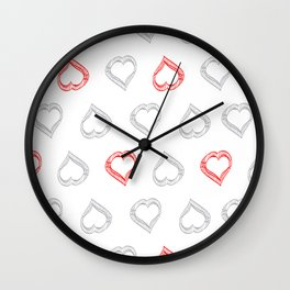 Hearts II Wall Clock