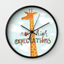 No High Expectations Wall Clock