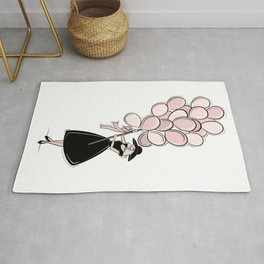 Vintage Inspired Pink Balloons Rug
