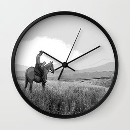 Black & White HORSE Pencil Drawing Photo Wall Clock