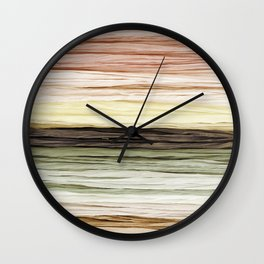 Neutral Ombre Fabric Wall Clock
