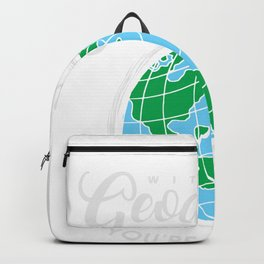 Without Geography You're Nowhere Globe Geography Teacher Backpack