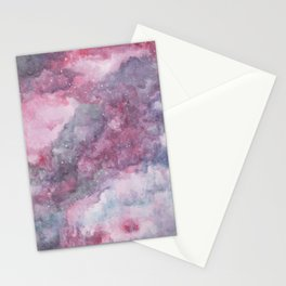 Pink Galaxy Painting Stationery Cards