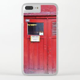 Fire Door Clear iPhone Case