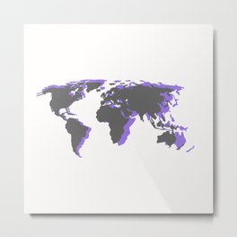 Purple Life Metal Print