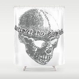 Swoozle BrainPan Shower Curtain