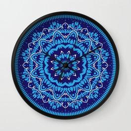 Mandala 010 Blue Mix Wall Clock