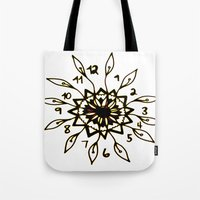 clockwork Tote Bags featuring Clockwork by Isa Gutierrez
