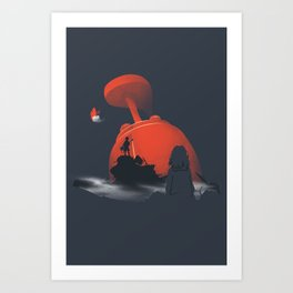Furi Kuri - Nothing amazing happens here Art Print