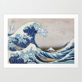 Under the Wave off Kanagawa - The Great Wave - Katsushika Hokusai Art Print