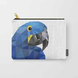 Hyacinth Macaw Blue parrot Birds and animals art Carry-All Pouch