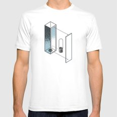 The Exploded Alphabet / I MEDIUM White Mens Fitted Tee