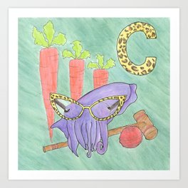 C is for Cuttlefish Art Print