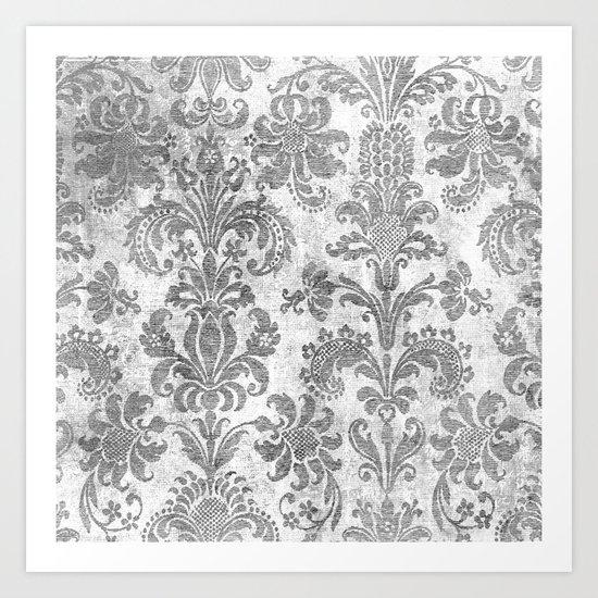 White Tapestry Art Print