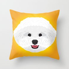 Bichon Frise  Throw Pillow