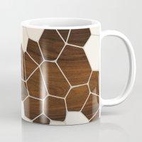 geode Mugs featuring Geode in Cream by jefdesigns