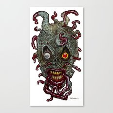 Heads of the Living Dead Zombies: Tentacle Zombie Canvas Print
