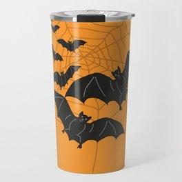 Flying Bats orange Travel Mug