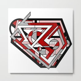 Corcillum - Heart Shaped Geometric Abstract Metal Print