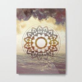 Nature Atmospheric Mandala 02 Metal Print