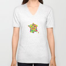 Abstract France Bright Earth Unisex V-Neck