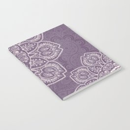 Mandala Tulips in Lavender ad Cream Notebook