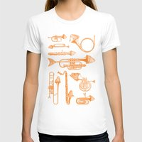 trumpet T-shirts featuring Fish Trumpet by Hadar Geva