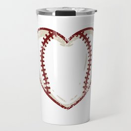 Vintage Baseball Heart product Gift Funny Softball Love design Travel Mug