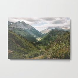 A Beautiful Day in Glaicer Metal Print