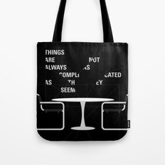 Sit straight. Walk tall. A PSA for stressed creatives. Tote Bag