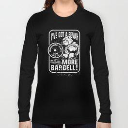 Mississippi Plate Bulldog - More Barbell Long Sleeve T-shirt