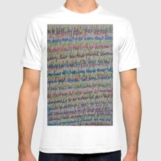 Handwriting on the Wall Mens Fitted Tee White MEDIUM