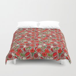 Little birdie says: Happy Fucking Holidays Duvet Cover