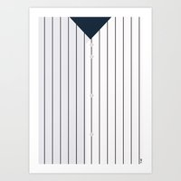 yankees Art Prints featuring Baseball - NY Yankees by ziwei tan