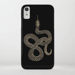 Vintage line snake iPhone Case