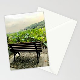 Seat by the lake and lotus Stationery Cards