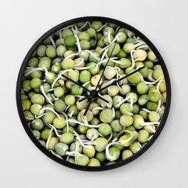 Peas Sprouts Wall Clock
