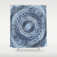 buildings Shower Curtains featuring Spinning Buildings by Scott Aichner