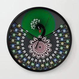 Peacock 5 Wall Clock