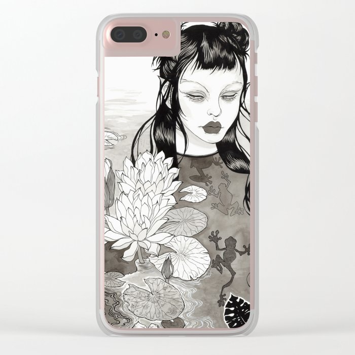 the frog princess Clear iPhone Case