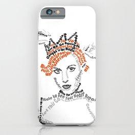 Hayley Williams Text Portrait iPhone Case