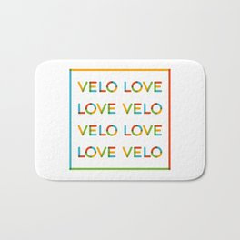 Velo Love – Multicolor Square – June 12th – 200th Birthday of the Bicycle Bath Mat