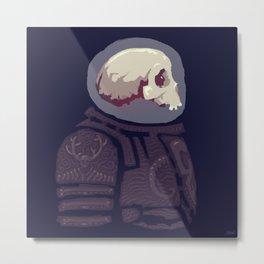 Spaceknight Skully Metal Print